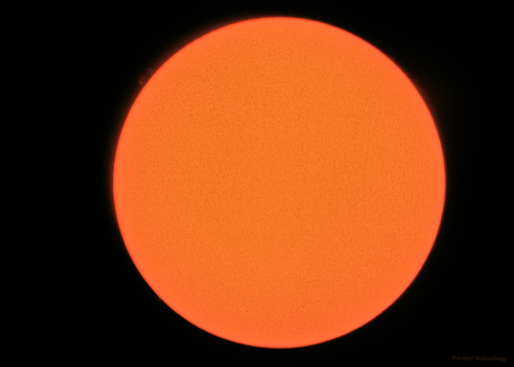 Sonne am 10.4.2009 mit SolaREDi und Canon EOS 400D