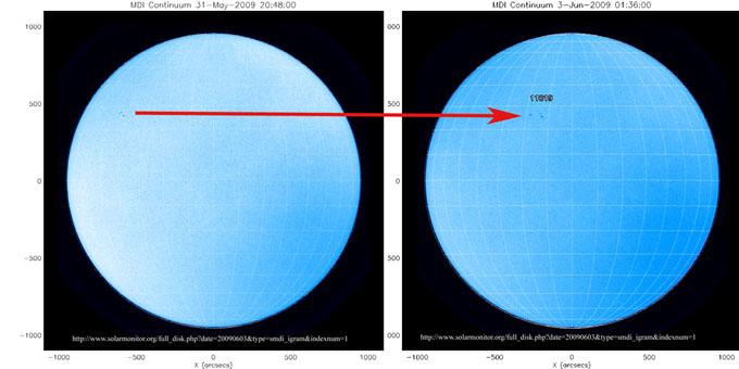 Die nördliche Position fernab vom Äquator zeigt die Zugehörigkeit zum neuen Zyklus