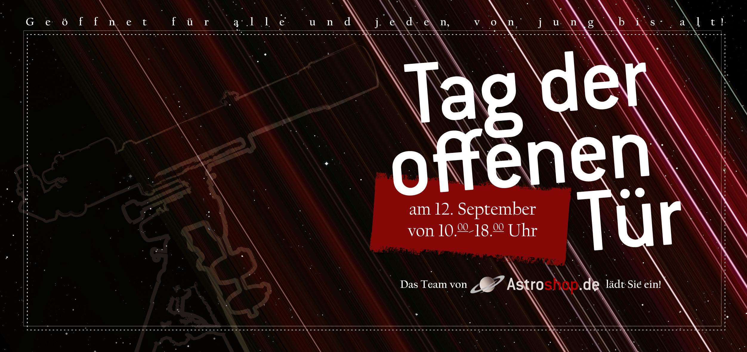 Tag der offenen türe  Informationen zum Tag der offenen Tür - astroshop.de Blog