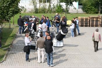 Besucher unserer Teleskopaustellung