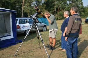 H-alpha Sonnenbeobachtung am Stand von astroshop.de