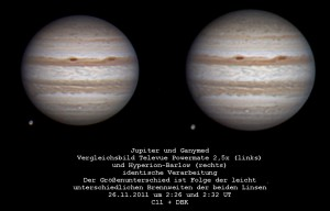 Jupiter im September 2011
