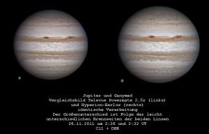 Jupiter im September 2011