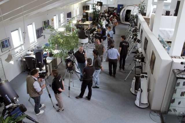 Blick auf die Teleskopausstellung