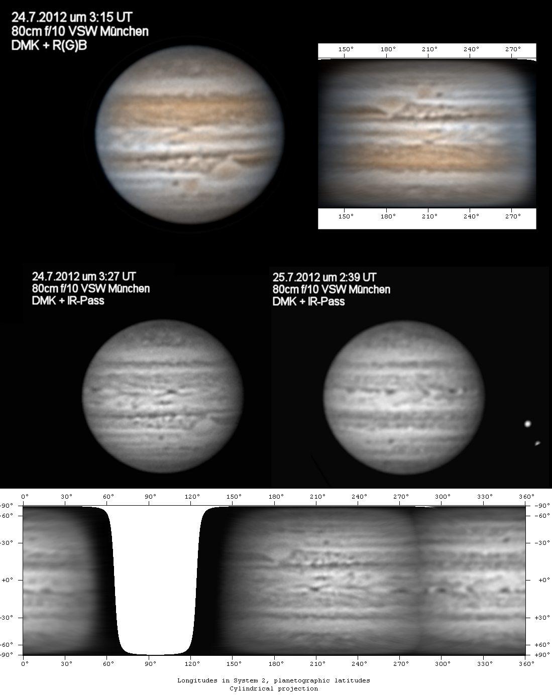 Jupiter im IR