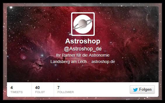 Astroshop auf Twitter