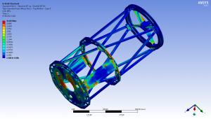 Analyse der Gitterstruktur eines Omegon RC Teleskops.