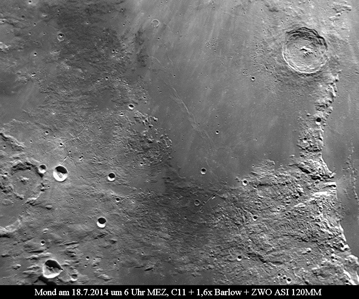 Mond im Juli 2014