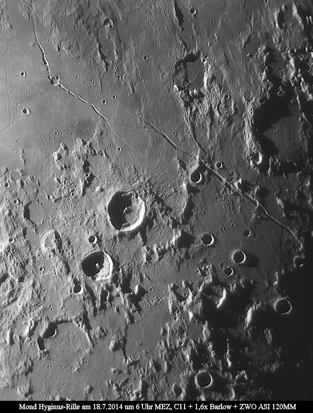 Hyginus- und Aridaeus-Rille