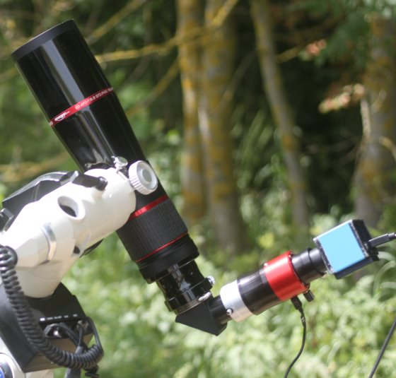 Quark-Sonnenfilter mit DMK-Kamera