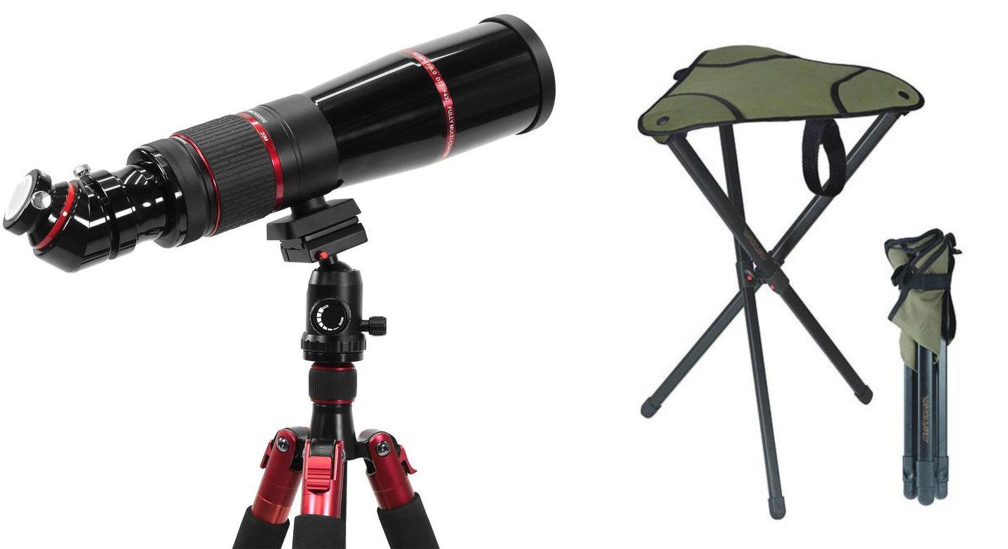 Photoscope und Astro-Stuhl