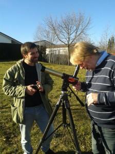 Bei der Sonnenbeobachtung mit einem Coronado PST