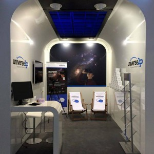 Universe2go Messestand