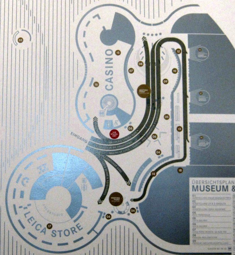Plan der Firmengebäude