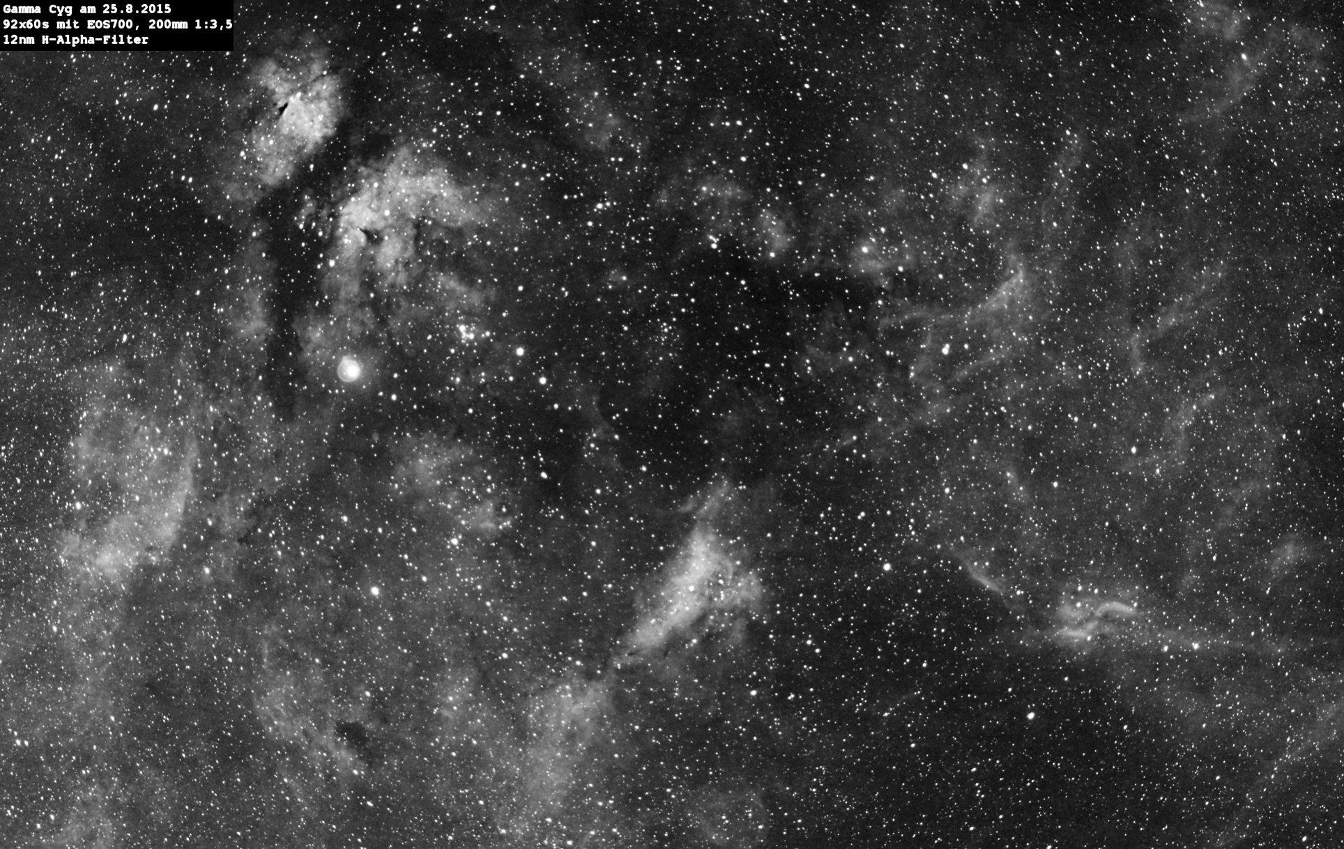 Nebel um Gamma Cygnus