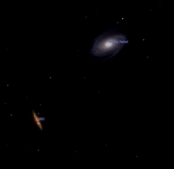 Galaxienpaar M81 M82
