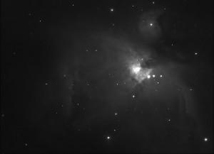 Testaufnahme: Großer Orionnebel M42 mit einem 50mm Objektiv