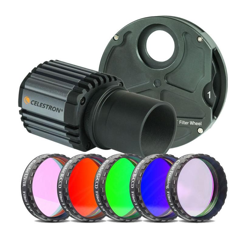 Set aus Skyris 618M mit Filterrad und Farbfilter