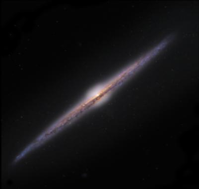 Die Edge-On-Galaxie NGC4565 Quelle: Universe2go