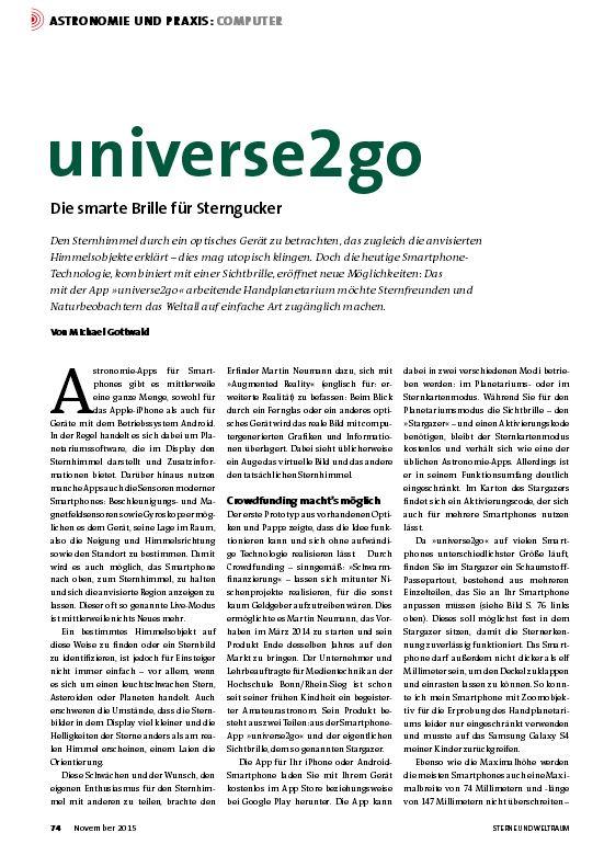 Der Testbericht von Sterne und Weltraum