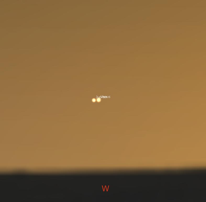 Jupiter und Venus Quelle:Stellarium