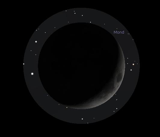 Mond im Okular