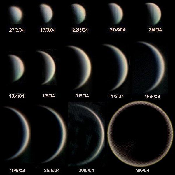 Die Phasen der Venus