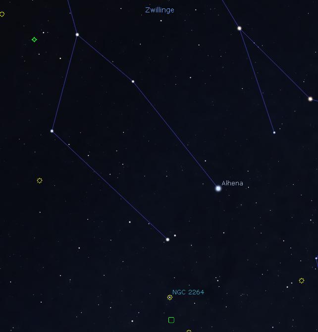 Aufsuchkarte Stellarium