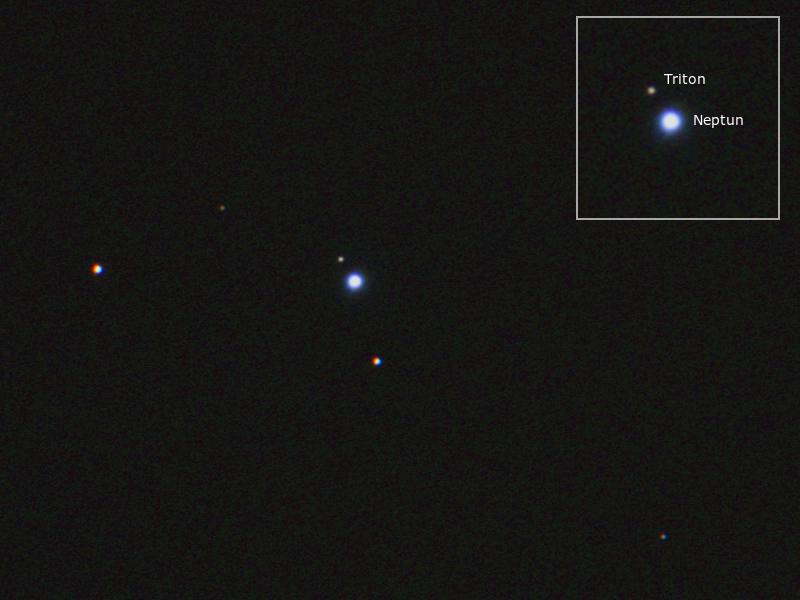 Neptun mit Triton